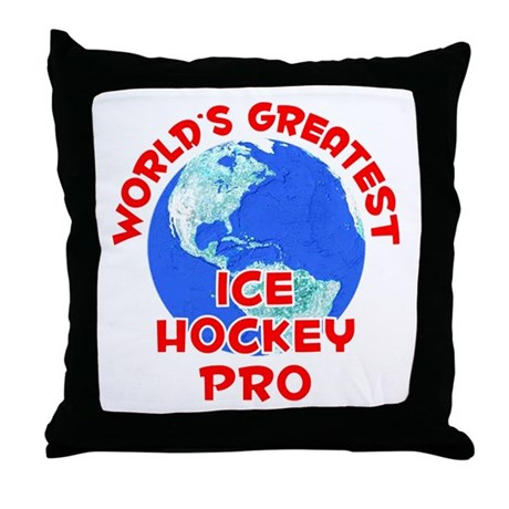 World's Greatest Ice H.. (F) Throw Pillow