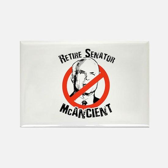 Retire Senator McAncient Rectangle Magnet