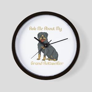 My Grand Rottweiler Wall Clock