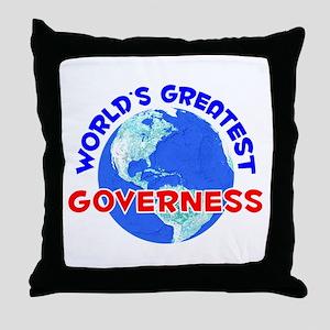 World's Greatest Gover.. (E) Throw Pillow