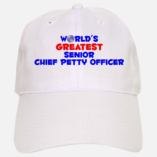 World's Greatest Senio.. (A) Baseball Baseball Cap