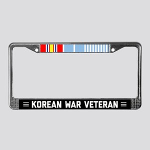 Proud Korean War Veteran License Plate Frame