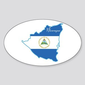 Cool Nicaragua Oval Sticker
