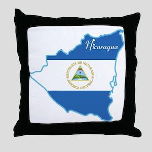Cool Nicaragua Throw Pillow