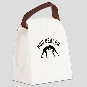 Wrestling Hug Dealer Gifts For Wr Canvas Lunch Bag