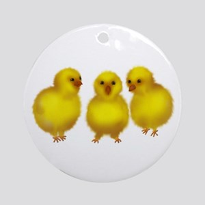 Easter Chicks Ornament (Round)