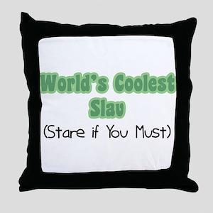 World's Coolest Slav Throw Pillow