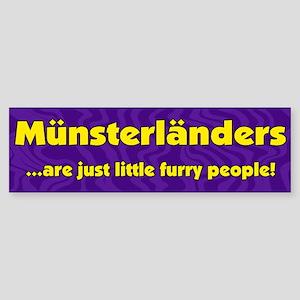Furry People Munsterlander Bumper Sticker