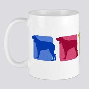 Color Row Munsterlander Mug