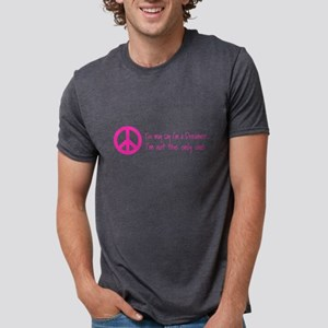 You May Say I'm a Dreamer Pink Peace Sign T-Shirt