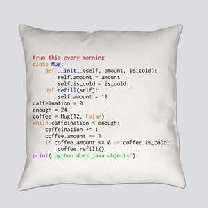 Python Does Java Objects Everyday Pillow