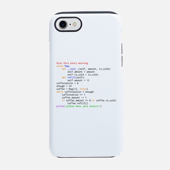 Python Does Java Objects iPhone 8/7 Tough Case
