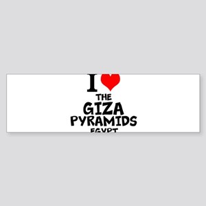 I Love The Giza Pyramids, Egypt Bumper Sticker