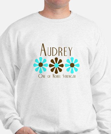 Audrey - Blue/Brown Flowers Sweater