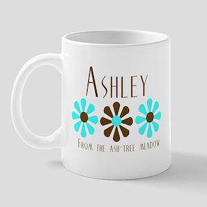 Ashley - Blue/Brown Flowers Mug