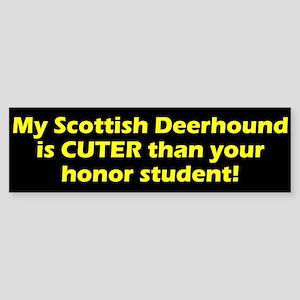 Cuter Scottish Deerhound Bumper Sticker