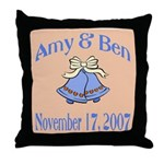 Personalized Wedding Tile Fav Throw Pillow