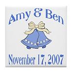 Personalized Wedding Tile Fav Tile Coaster