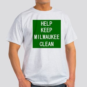 Help Keep Milwaukee Clean Ash Grey T-Shirt