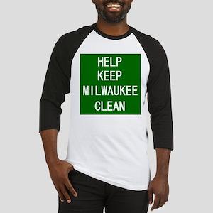 Help Keep Milwaukee Clean Baseball Jersey