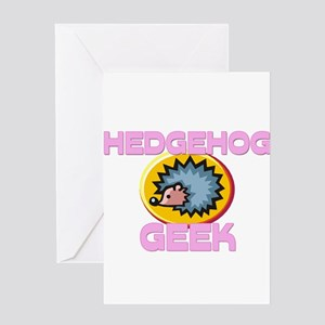 Hedgehog Geek Greeting Cards