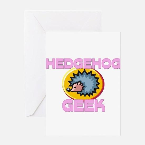 Hedgehog Geek Greeting Cards