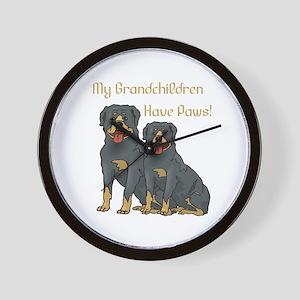 My Grandchildren Are Rottweilers Wall Clock
