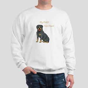 My Child Is A Rottweiler Sweatshirt