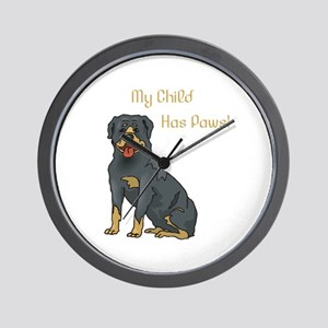 My Child Is A Rottweiler Wall Clock