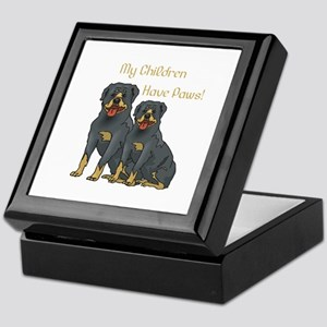My Children Are Rottweilers Keepsake Box