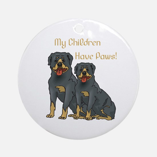 My Children Are Rottweilers Ornament (Round)