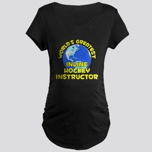 World's Greatest Inlin.. (D) Maternity Dark T-Shir