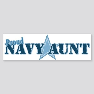 Proud Navy Aunt Bumper Sticker
