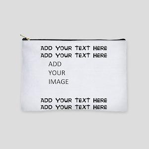 Custom Text and Image Makeup Bag