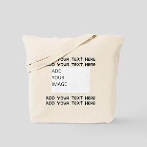 Custom Text And Image Tote Bag