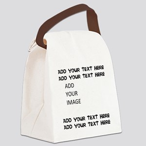 Custom Text And Image Canvas Lunch Bag
