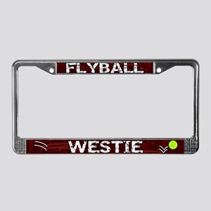 Flyball Westie License Plate Frame