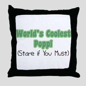 World's Coolest Poppi Throw Pillow