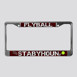 Flyball Stabyhoun License Plate Frame