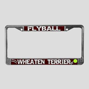Flyball Wheaten Terrier License Plate Frame