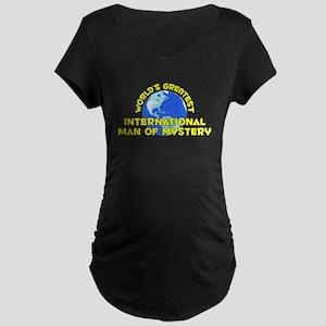 World's Greatest Inter.. (D) Maternity Dark T-Shir