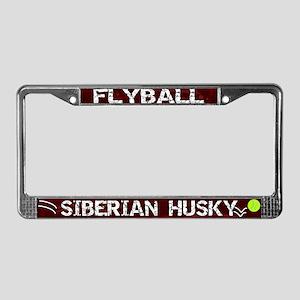 Flyball Siberian Husky License Plate Frame