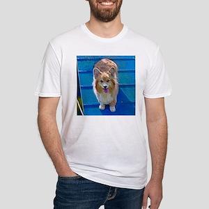 Agile Fluffy Corgi Fitted T-Shirt