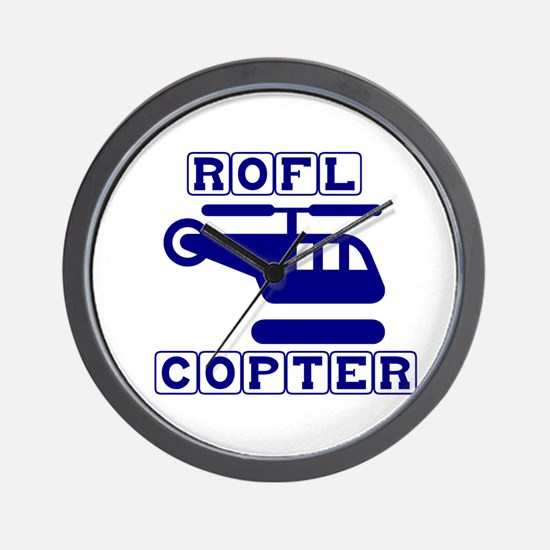 Roflcopter Wall Clock