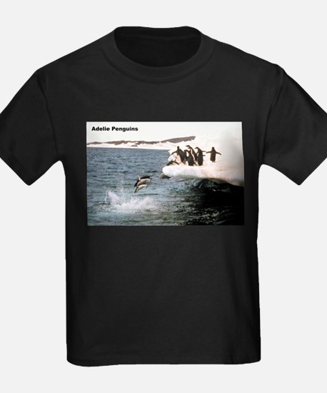 Adelie Penguins Ash Grey T-Shirt