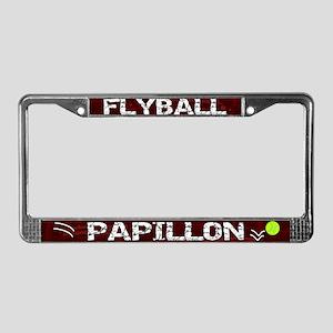 Flyball Papillon License Plate Frame