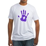 Hand-Print Fitted T-Shirt