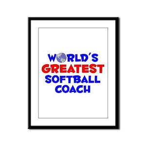 World's Greatest Softb.. (A) Framed Panel Print