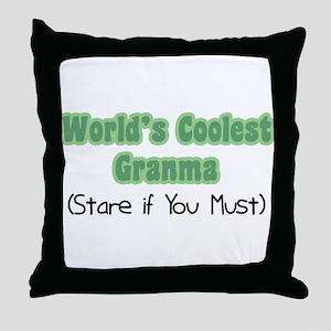 World's Coolest Granma Throw Pillow