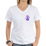 Hand-Print Women's V-Neck T-Shirt